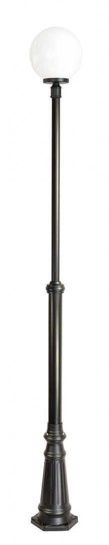 SU-MA KULE CLASSIC OGMWN 1 300 maszt czarny z białym kloszem o średnicy 30 cm E27 175-275cm