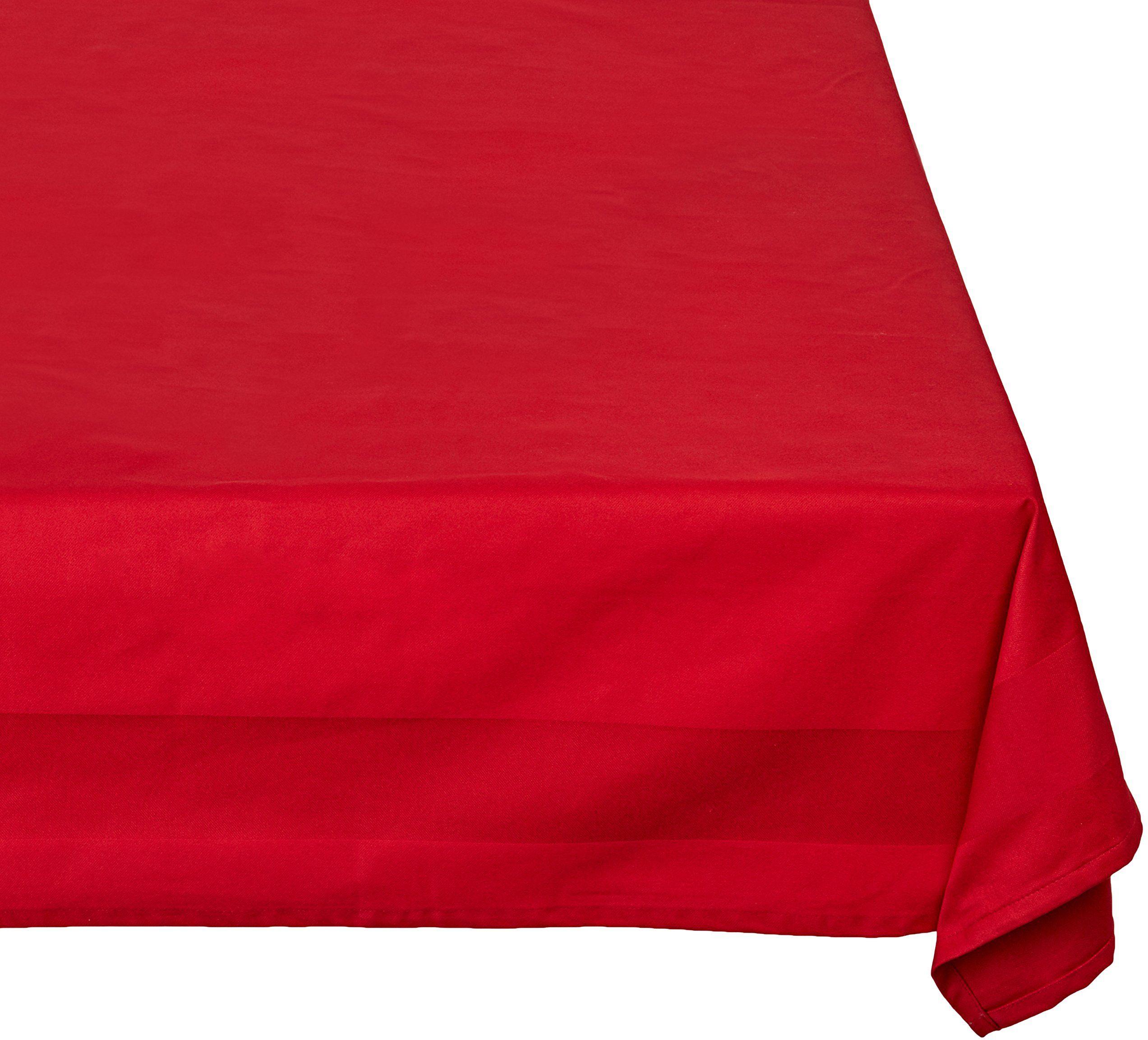 Calitex Taśma satynowa obrus bawełna czerwony 300 x 150 cm