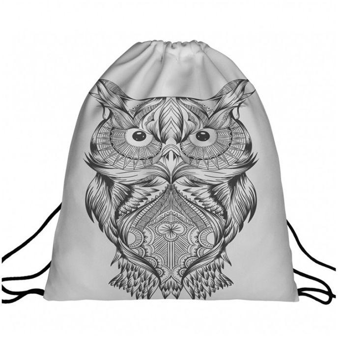 Worek plecak z nadrukiem Owl A4