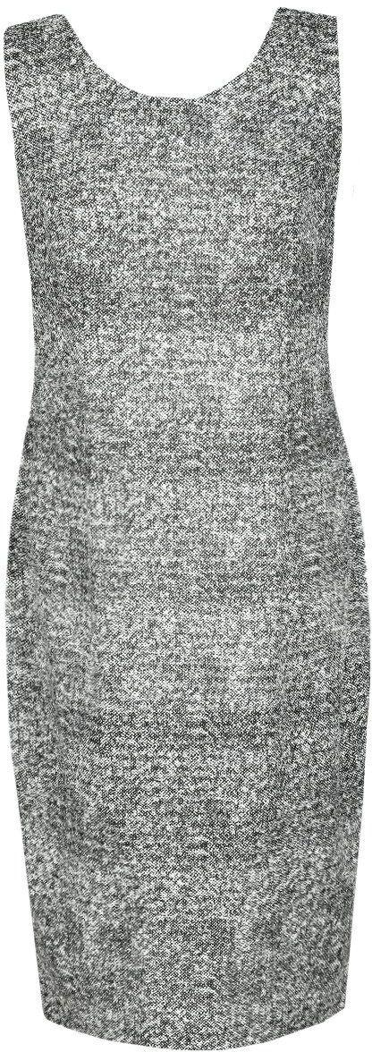 Sukienka FSU657 CZARNY + BIAŁY melanż