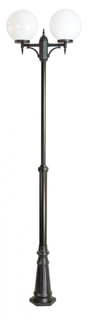 SU-MA Kule Classic OGMWN 2 300 maszt czarny z białym kloszem o średnicy 30cm E27 190-290cm