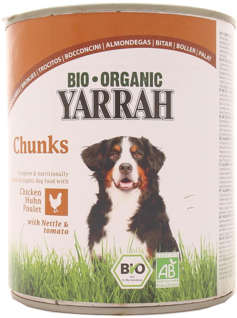 Kawałki kurczaka z pokrzywą i pomidorem BIO dla psa - Yarrah - 820g