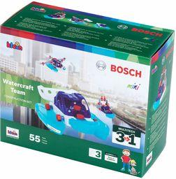 Theo Klein 8794 Zestaw konstrukcyjny 3w1 Bosch Watercraft Team Zawiera elementy do budowy różnych pojazdów wodnych W zestawie plany konstrukcyjne dla 3 modeli