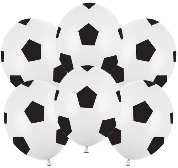 Balony Piłka nożna 30cm 6 sztuk SB14P-299-008B-6