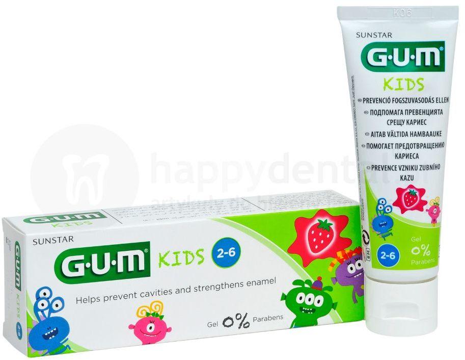 GUM Kids - pasta do zębów dla dzieci o smaku truskawki (2-6 lat) - 50ml