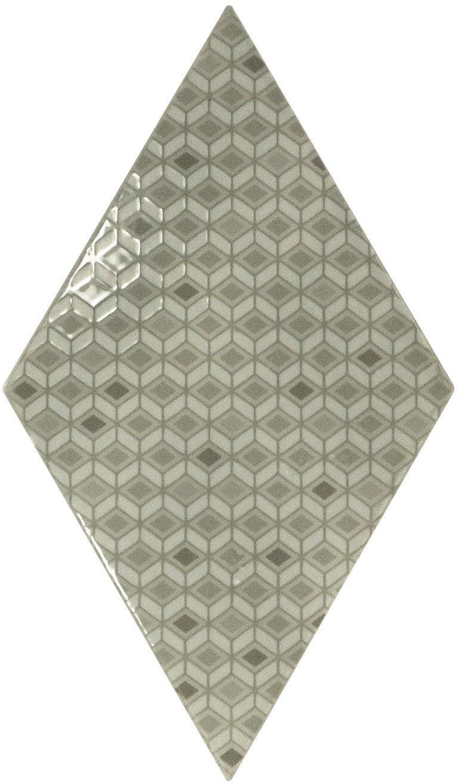 Rhombus Wall Mist Green Pattern 15,2x26,3