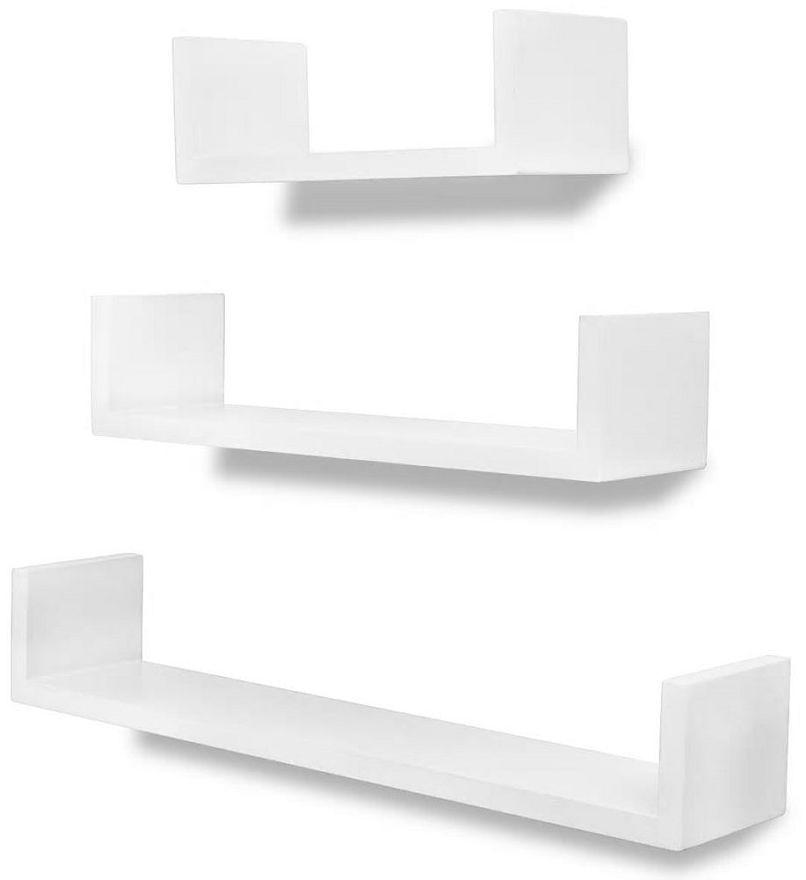 Zestaw białych półek ściennych - Baffic 2X