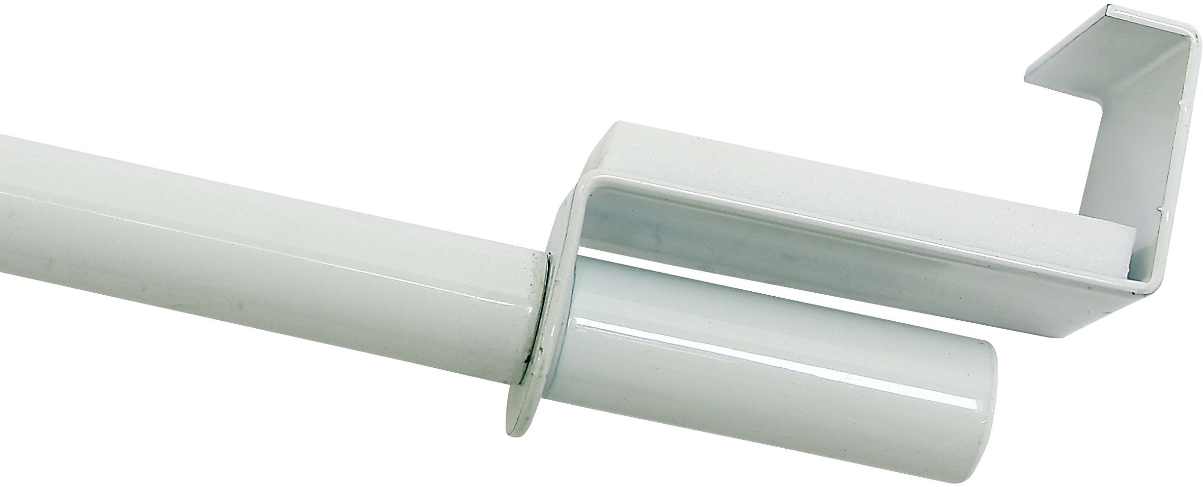 GARDINIA Karnisz, wysuwany, montaż bez śrub i wiercenia, średnica 9 mm, długość 120-160 cm, metal, biały