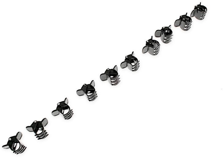 SPINKI DO WŁOSÓW KLASYCZNE ŻABKI kolor czarny styl sportowy plastik pin up girl z grzebykiem spinki (cj2361)