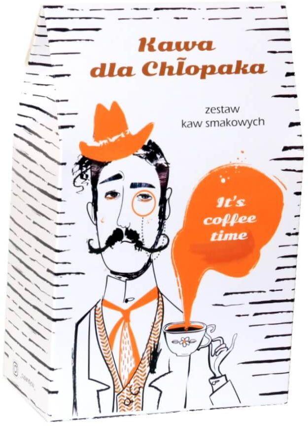Kawa dla Chłopaka  prezent upominek dla mężczyzny z kawą aromatyzowaną smakową 10x10g