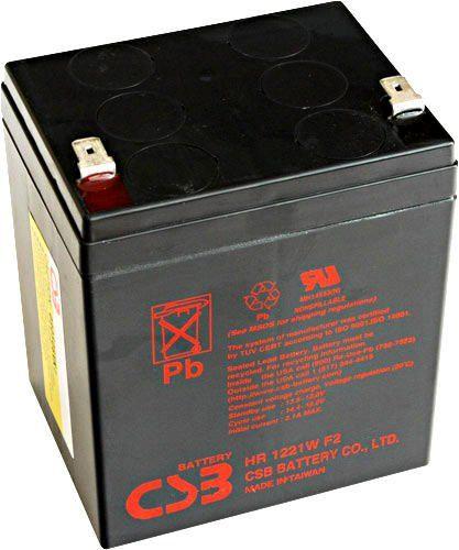Akumulator żelowy 12V 5,3Ah CSB HR1221W F2