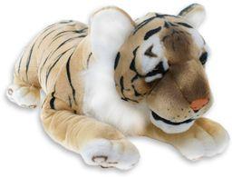 Tygrys pluszowy dzikie zwierzę leżące pluszowe zwierzę dżungla stój duży kot 65 do 103 cm, zwierzęta pluszowe: tygrys szczupły 18791