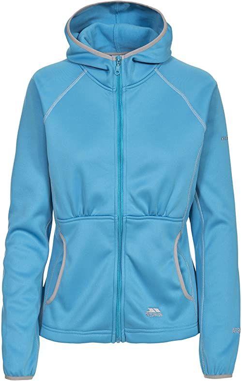 Trespass Sunnyside, bermudy, XS, ciepła kurtka polarowa 300 g/m  z kapturem dla kobiet, XS i niebieska