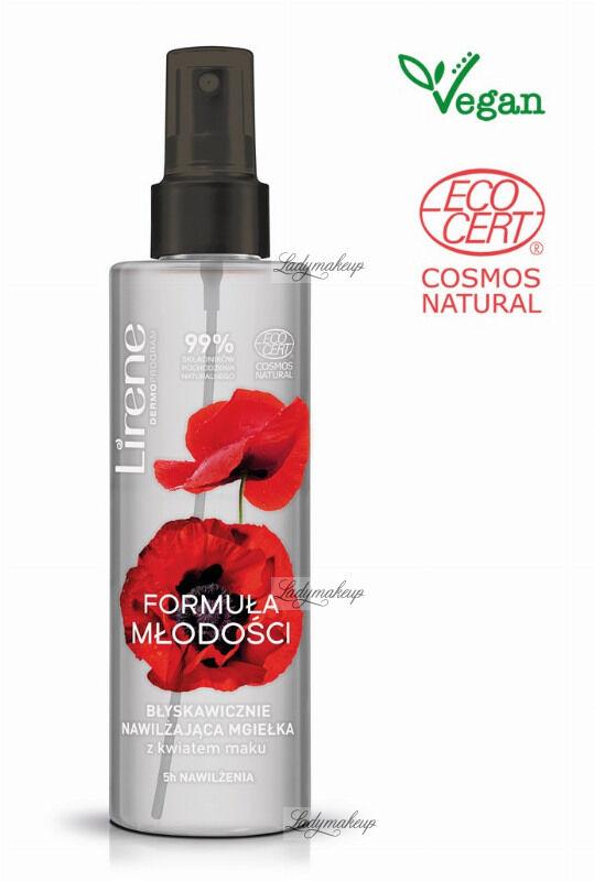 Lirene - Formuła Młodości - Nawilżająca mgiełka do twarzy z kwiatem maku - 100 ml