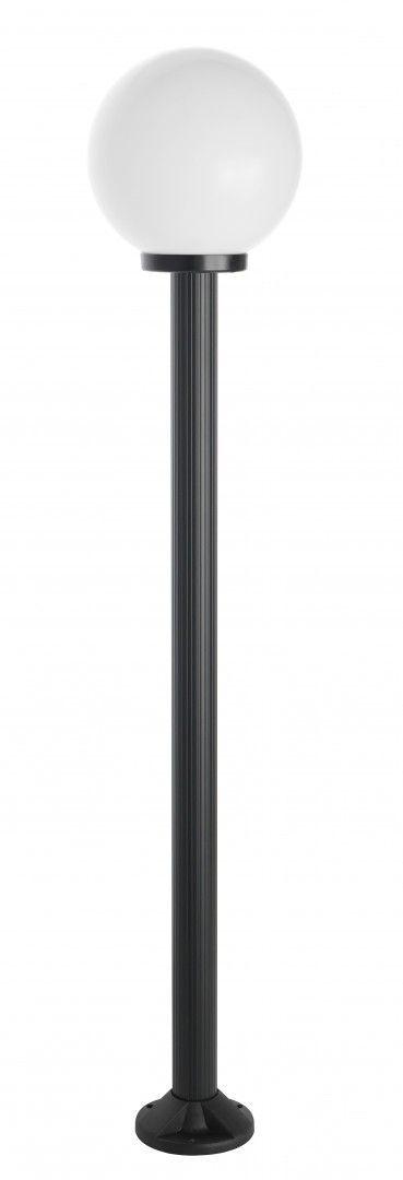 SU-MA Kule K 5002/1/K 250 lampa stojąca czarna klosz biały 25cm E27 175cm