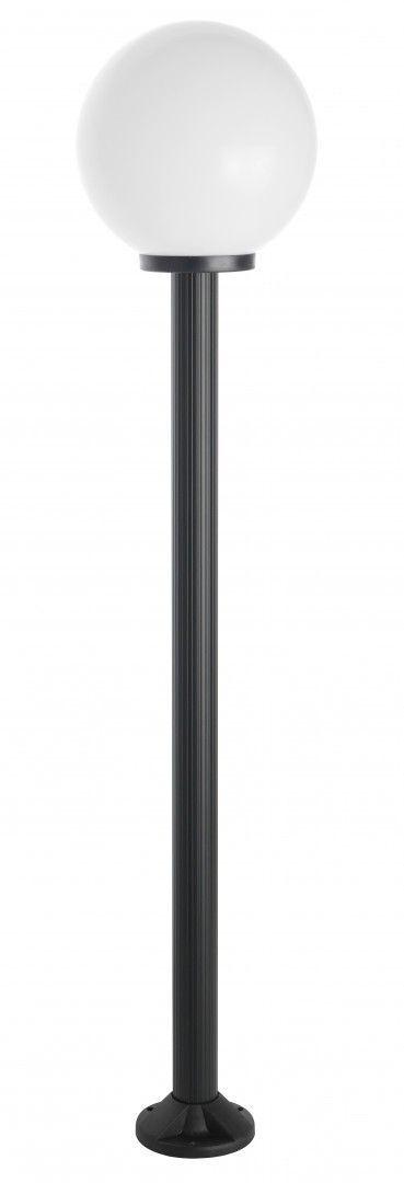 SU-MA Kule K 5002/1/K 300 lampa stojąca czarna klosz biały 30cm E27 180cm