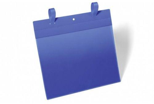 Kieszeń magazynowa z paskiem montażowym DURABLE 297x210 (pozioma) niebieska (50szt.) 175107