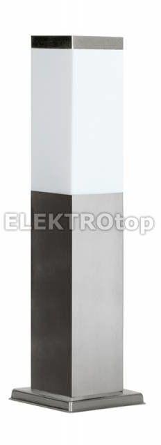 Inox lampa stojąca ogrodowa 1-punktowa kwadratowa czarna SS802-450 BL