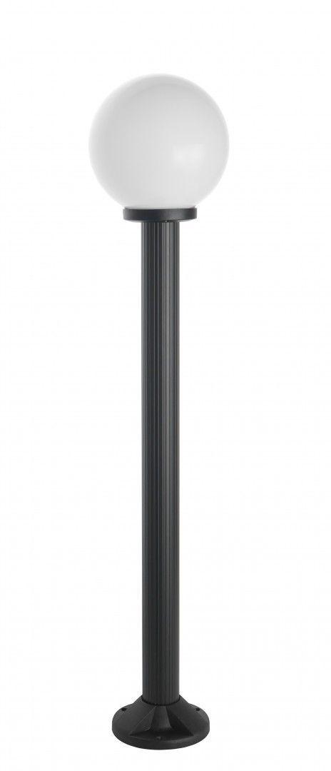 SU-MA Kule K 5002/2/K 200 lampa czarna stojąca klosz biały 20cm E27 120cm
