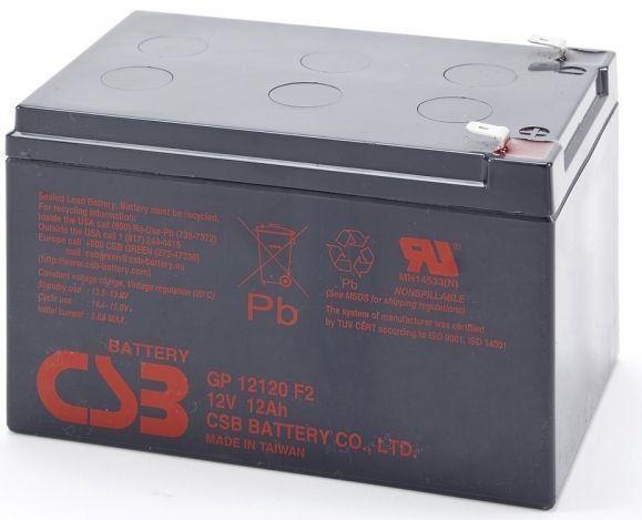 Akumulator żelowy 12V 12Ah CSB GP12120 F2