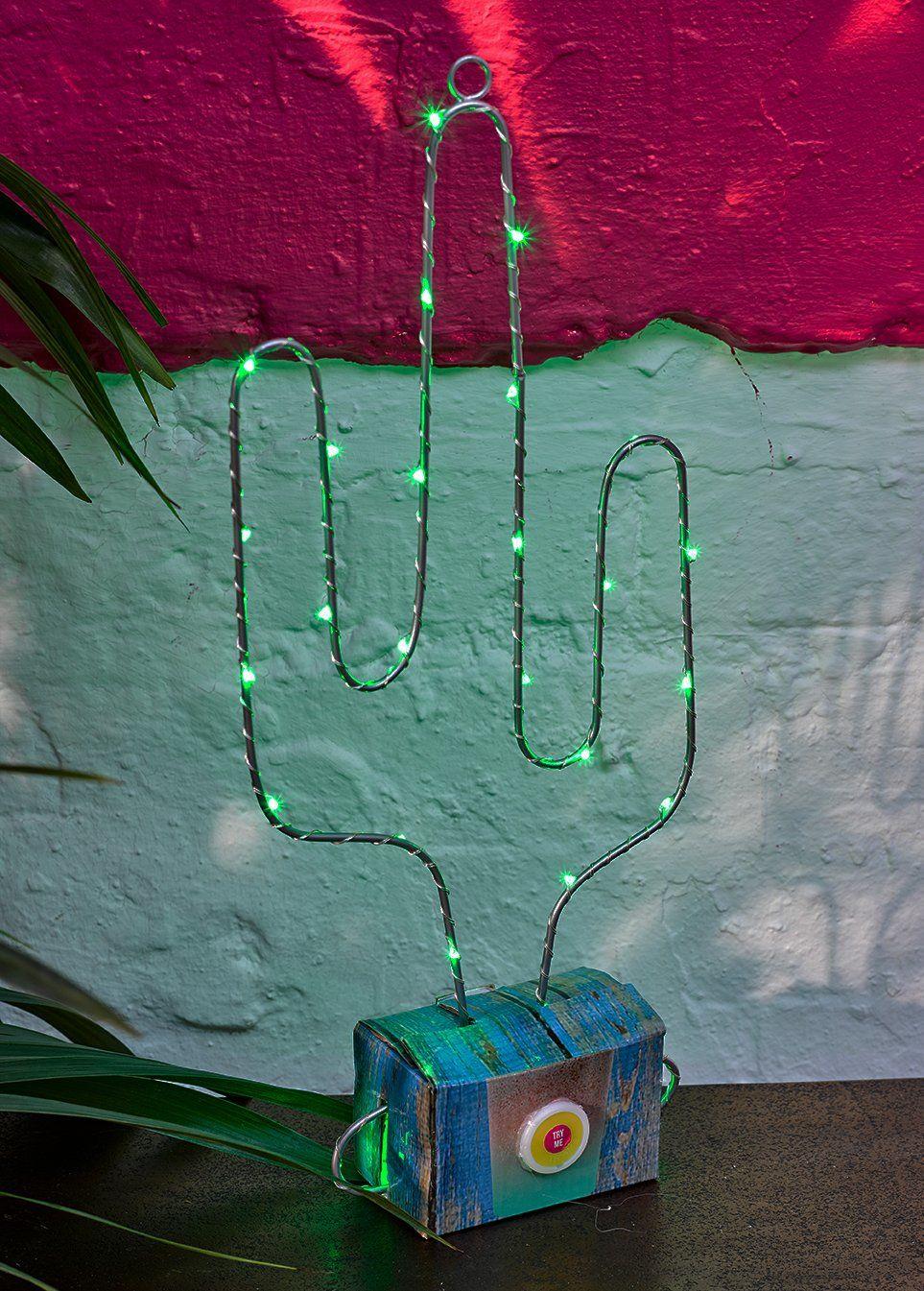 Stoły rozmowy kubańskie Fiesta zasilane na baterie lampa LED w kształcie kaktusa do dekoracji wnętrz i letniej imprezy, zielone