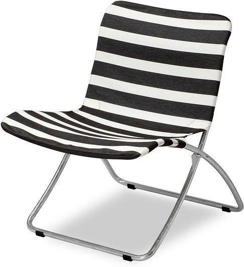 Krzesło plażowe lise czarne pasy