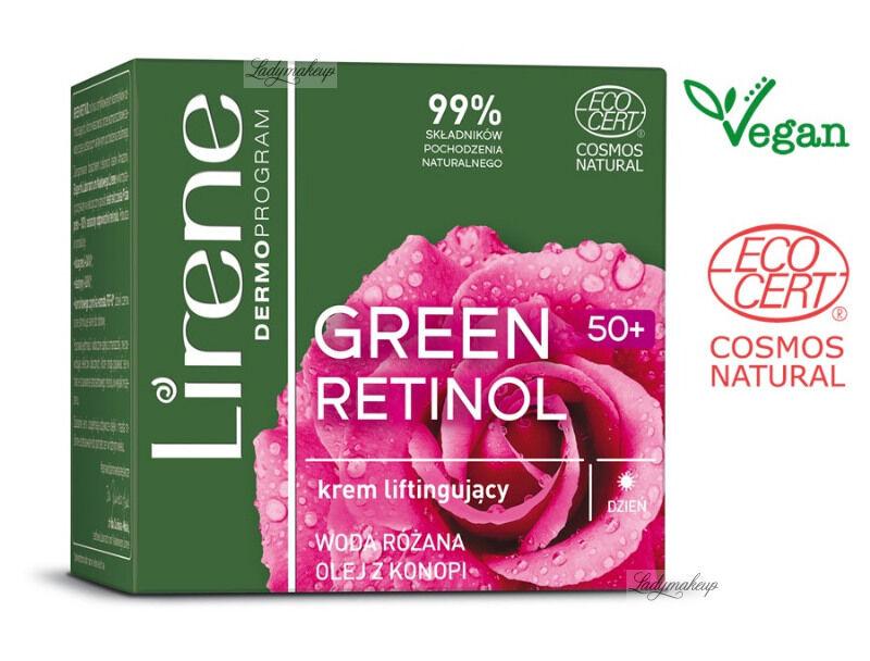 Lirene - GREEN RETINOL 50+ Liftingujący krem do twarzy na dzień - 50 ml