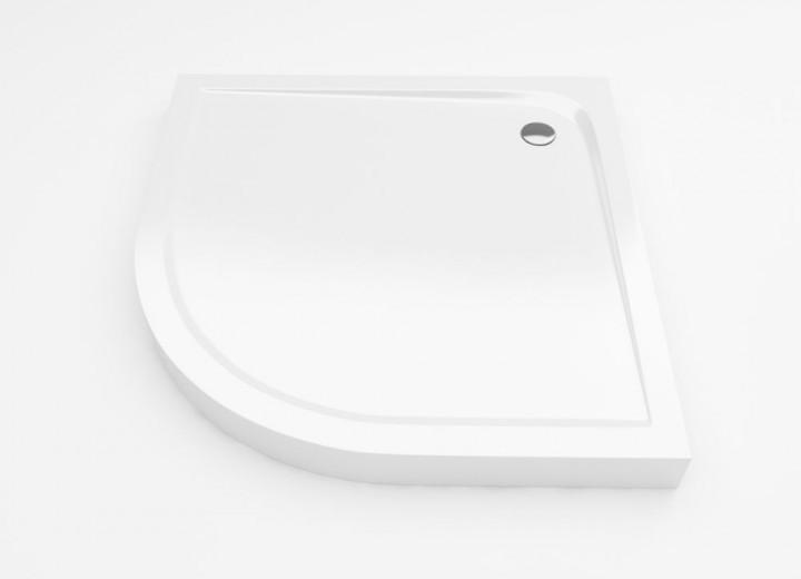Brodzik półokrągły Excellent Sense kompaktowy 90x90 biały BREX.SEN09WHC