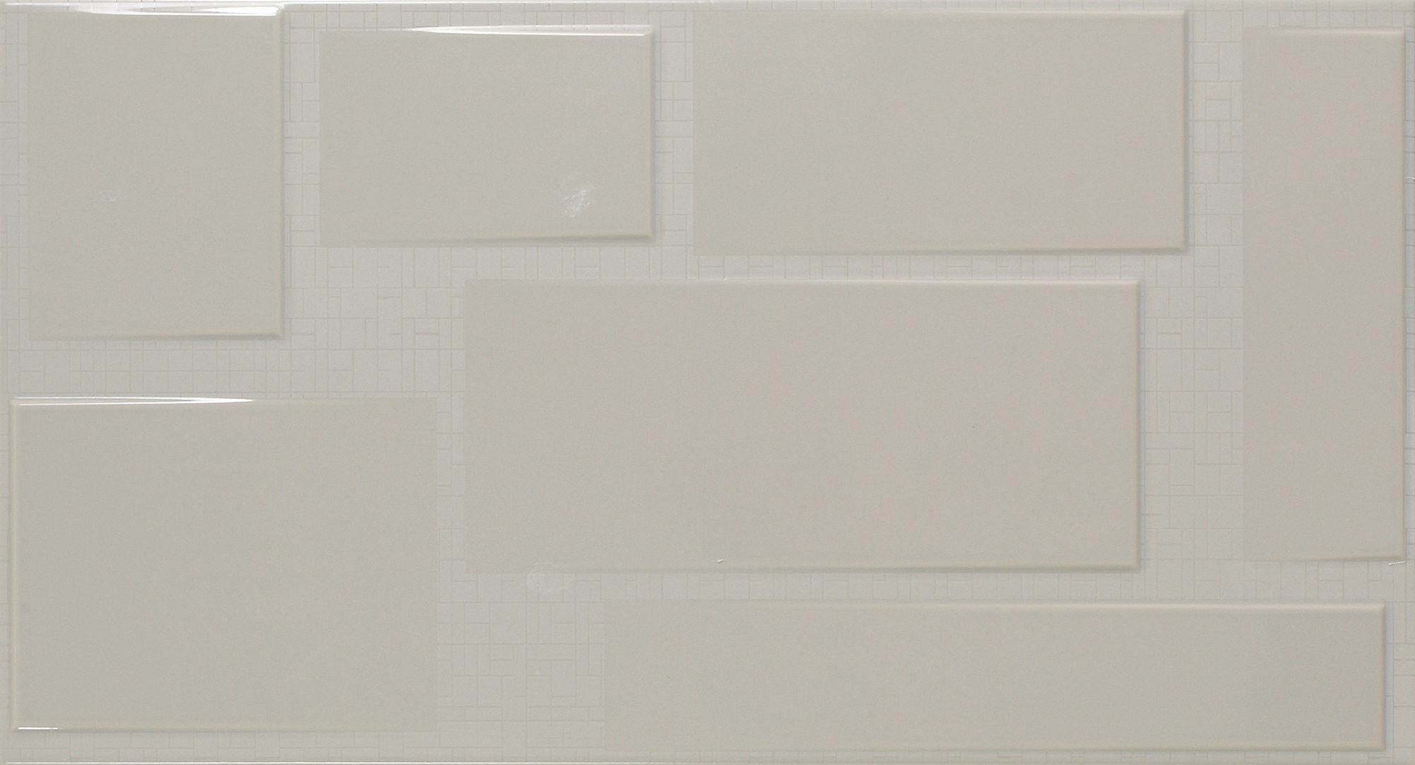 Blocks Gris Relieve 32,5x60