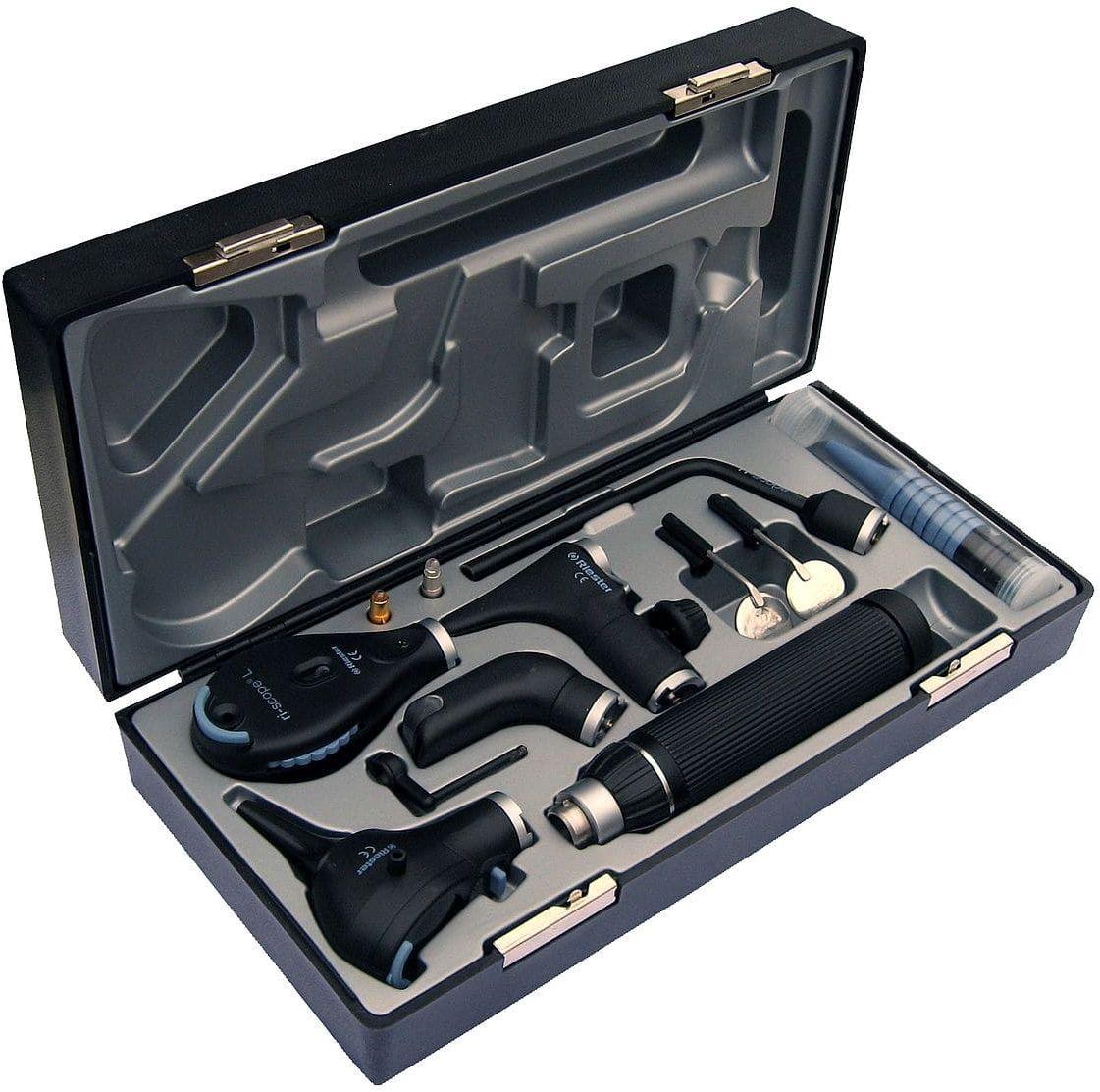 Riester ri-scope zestaw de-luxe otoskop L3 LED 3,5 V + oftalmoskop L2 LED 3,5 V rękojeść bateryjna typu C