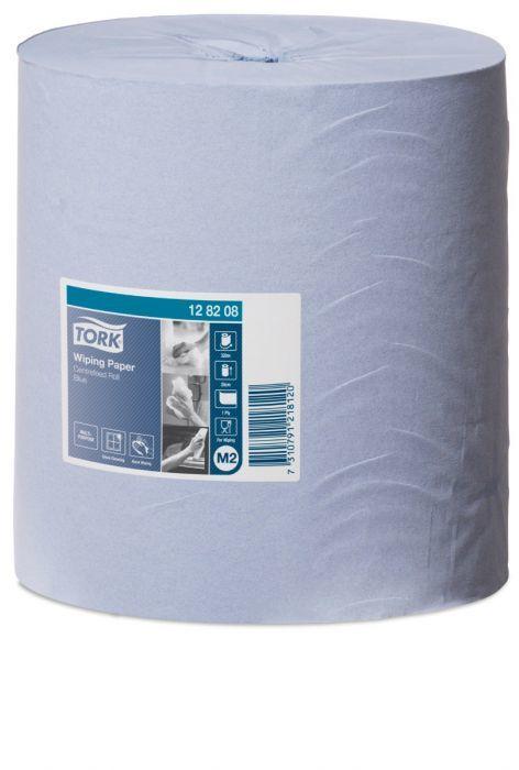 Czyściwo papierowe Tork do lekkich zabrudzeń w roli, niebieskie