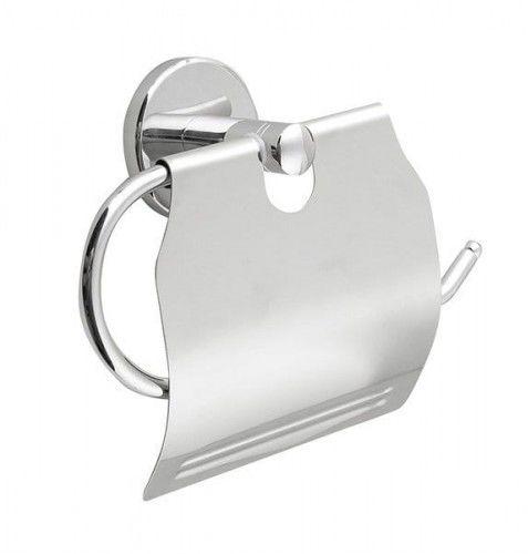 SAMBA wieszak na papier toaletowy z przykrywką chrom