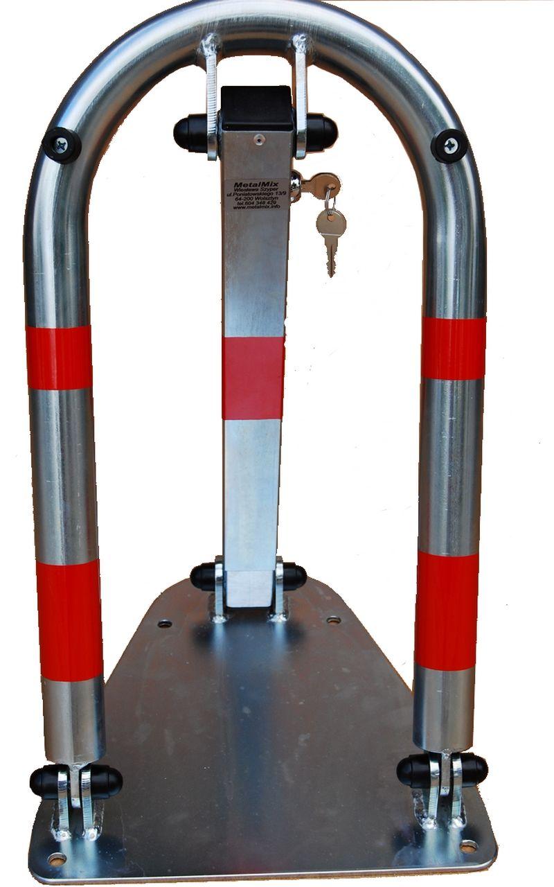 Zapora słupek blokada parkingowa U klucz ocynkowana galwanicznie ocynkowana mocna samozatrzaskowa zapora parkingowa n klucz