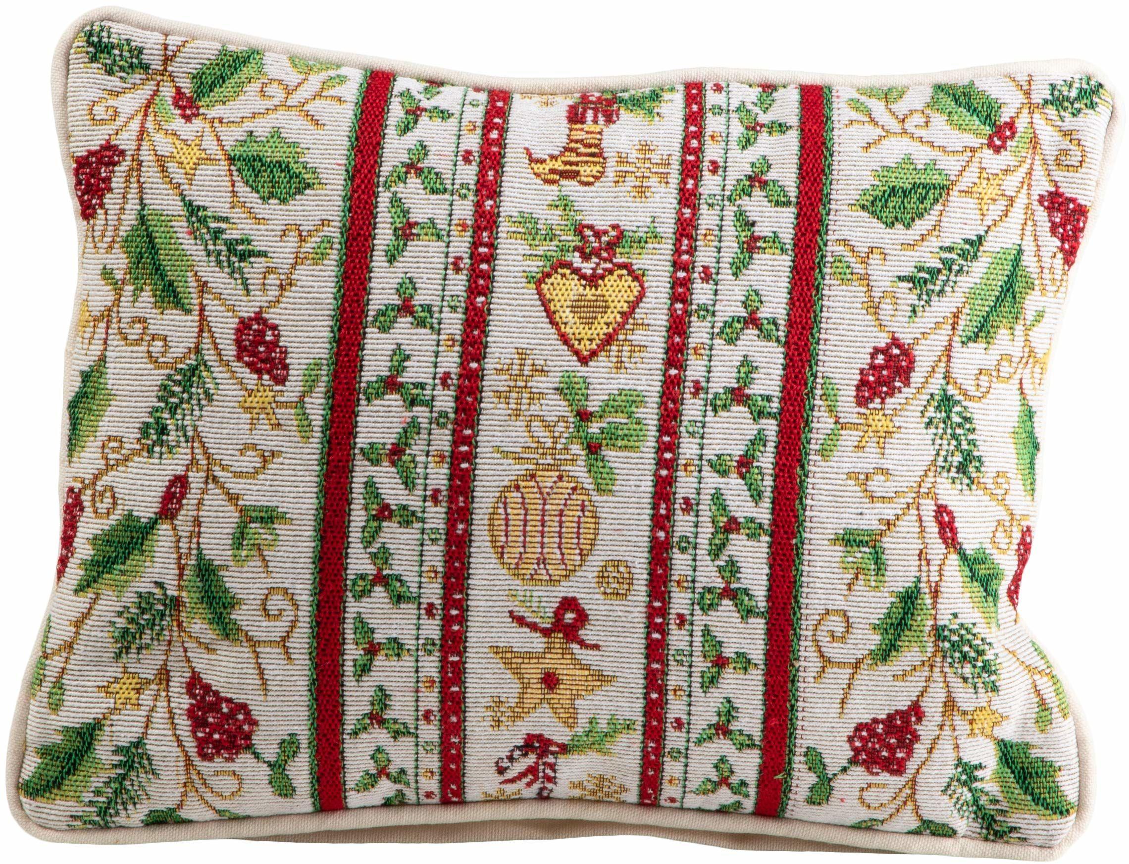Spryskiwacz - gałązki bożonarodzeniowe - kolorowe - poduszki - wypełnione - 25/33 cm