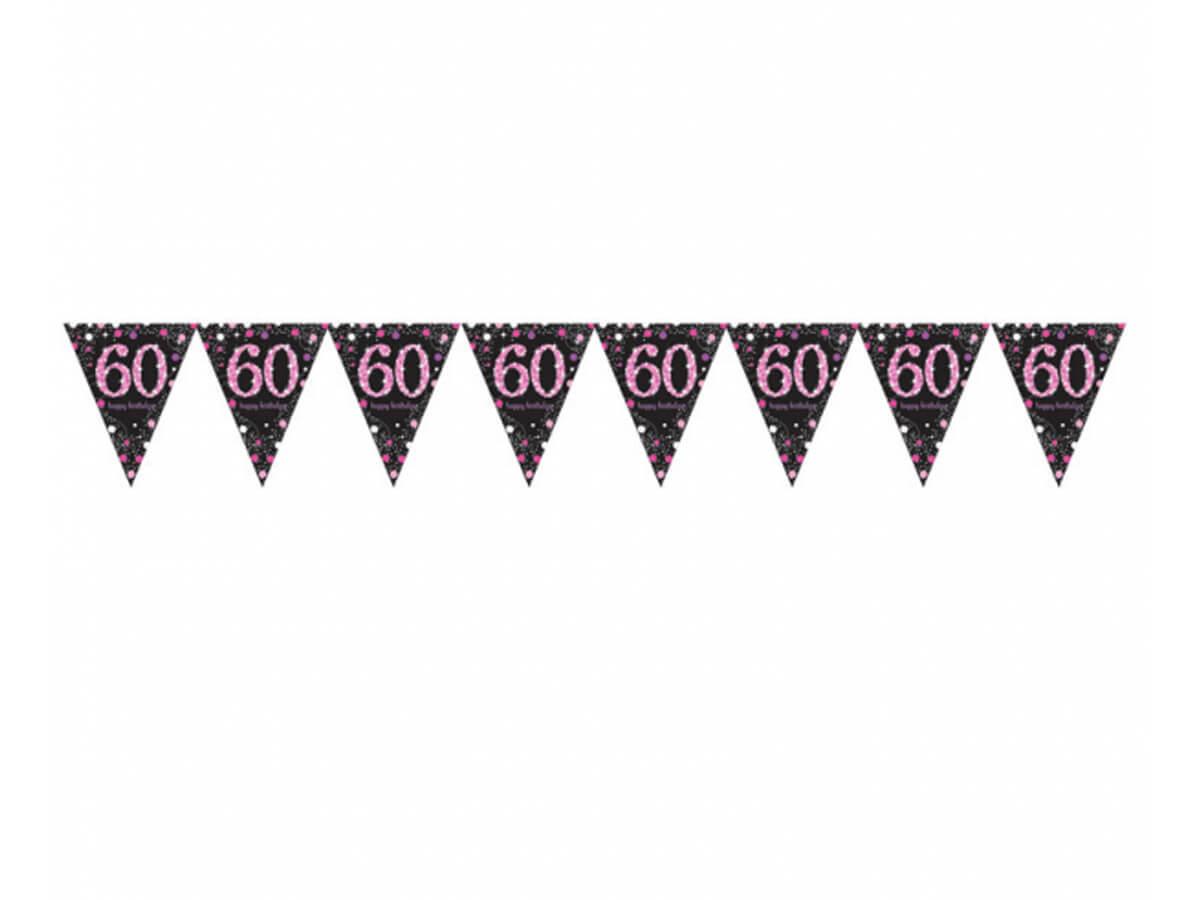 Baner flagi na sześćdziesiątkę - 400 cm - 1 szt.