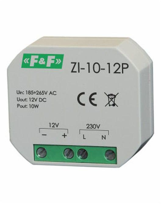 Zasilacz impulsowy do puszki 180-264V AC, wyj. 12V DC 0,83A 10W ZI-10-12P
