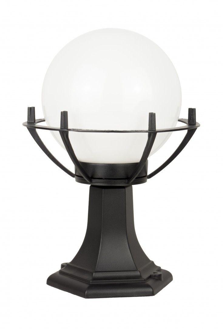 SU-MA Kule z koszykiem 200 K 4011/1/KPO oprawa stojąca czarna klosz biały o średnicy 20 cm E27 39cm