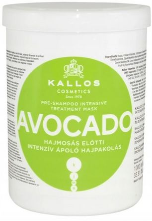 Kallos Avocado maska regenerująca do włosów zniszczonych 1000 ml
