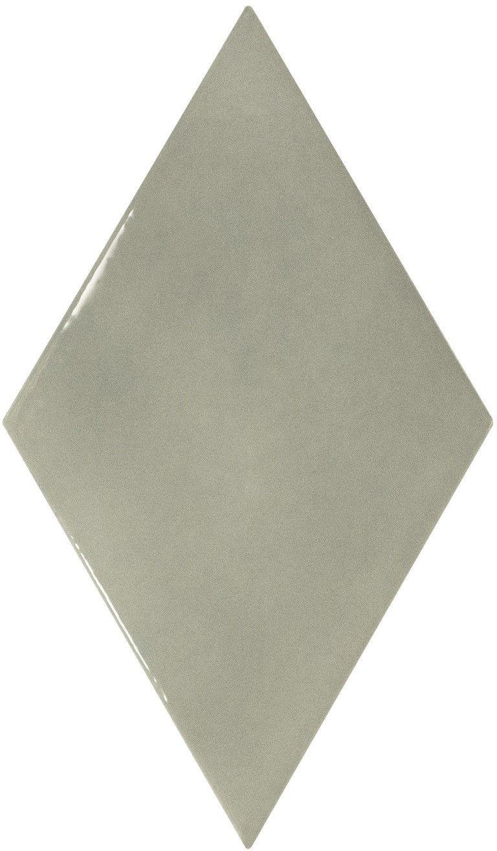 Rhombus Wall Mist Green Smooth 15,2x26,3