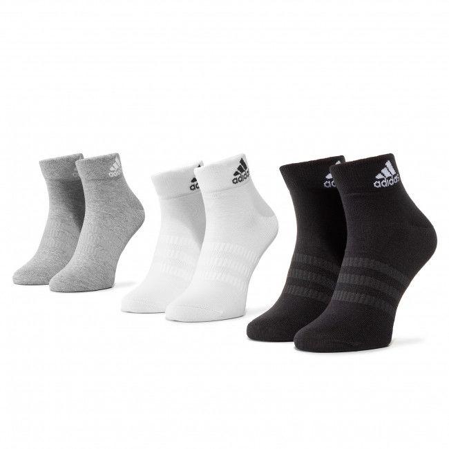 Zestaw 3 par niskich skarpet unisex adidas - Light Ank 3PP DZ9434 Mgreyh/White/Black