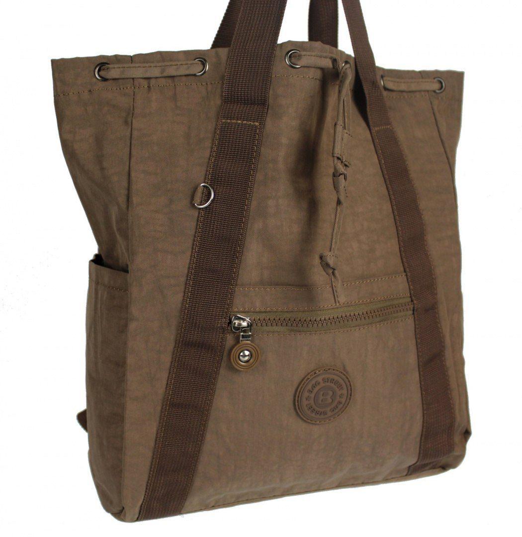 Praktyczny Plecak Torebka 2 w 1 BAG STREET 2247 BEŻOWY