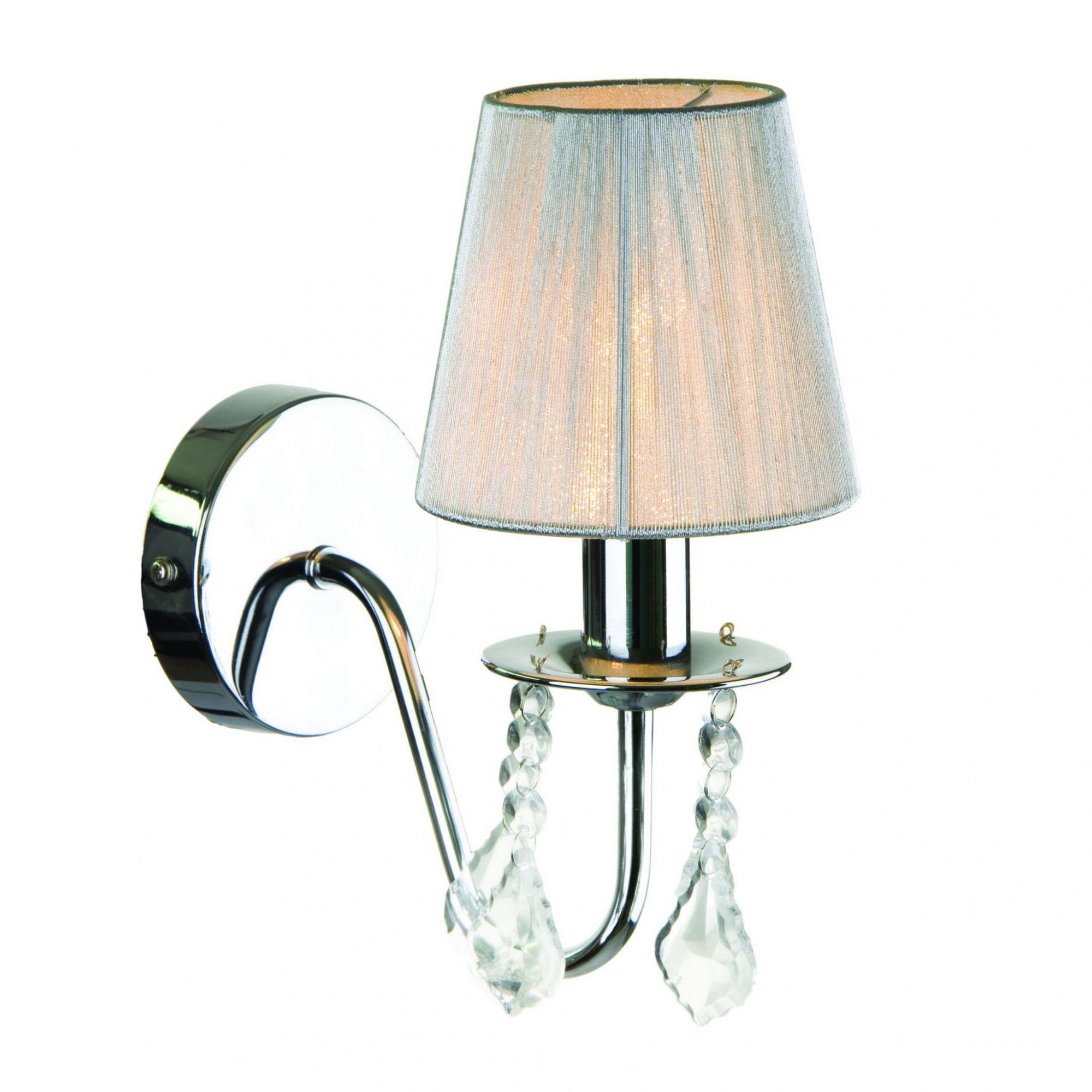Kinkiet Mona P-5005/1W Light Prestige elegancka lampa ścienna w kolorze srebrnym
