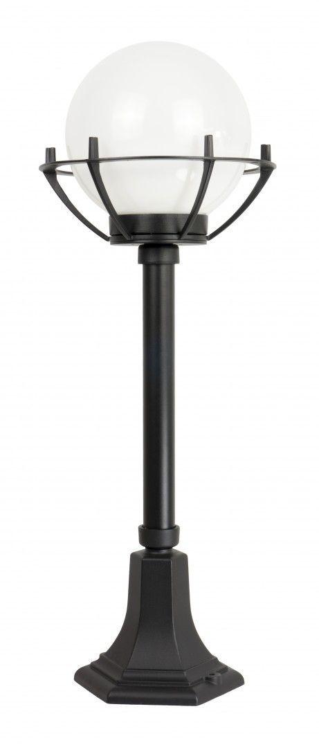 SU-MA Kule z koszykiem 200 K 5002/3/KPO oprawa stojąca czarna klosz biały o średnicy 20 cm