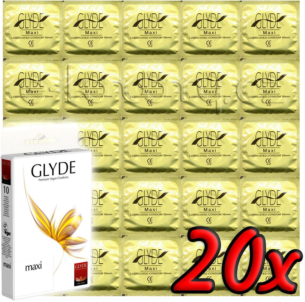 Glyde Maxi - Premium Vegan Condoms 20 pack