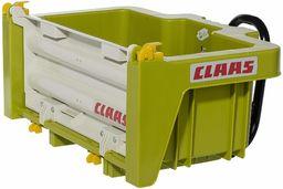 Rolly Toys 408924 RollyBox Claas wgłębienie transportowe do traktora z pedałem (dzieci w wieku 3-10 lat, wylewka, uchylna, tylna klapa odczepiana)