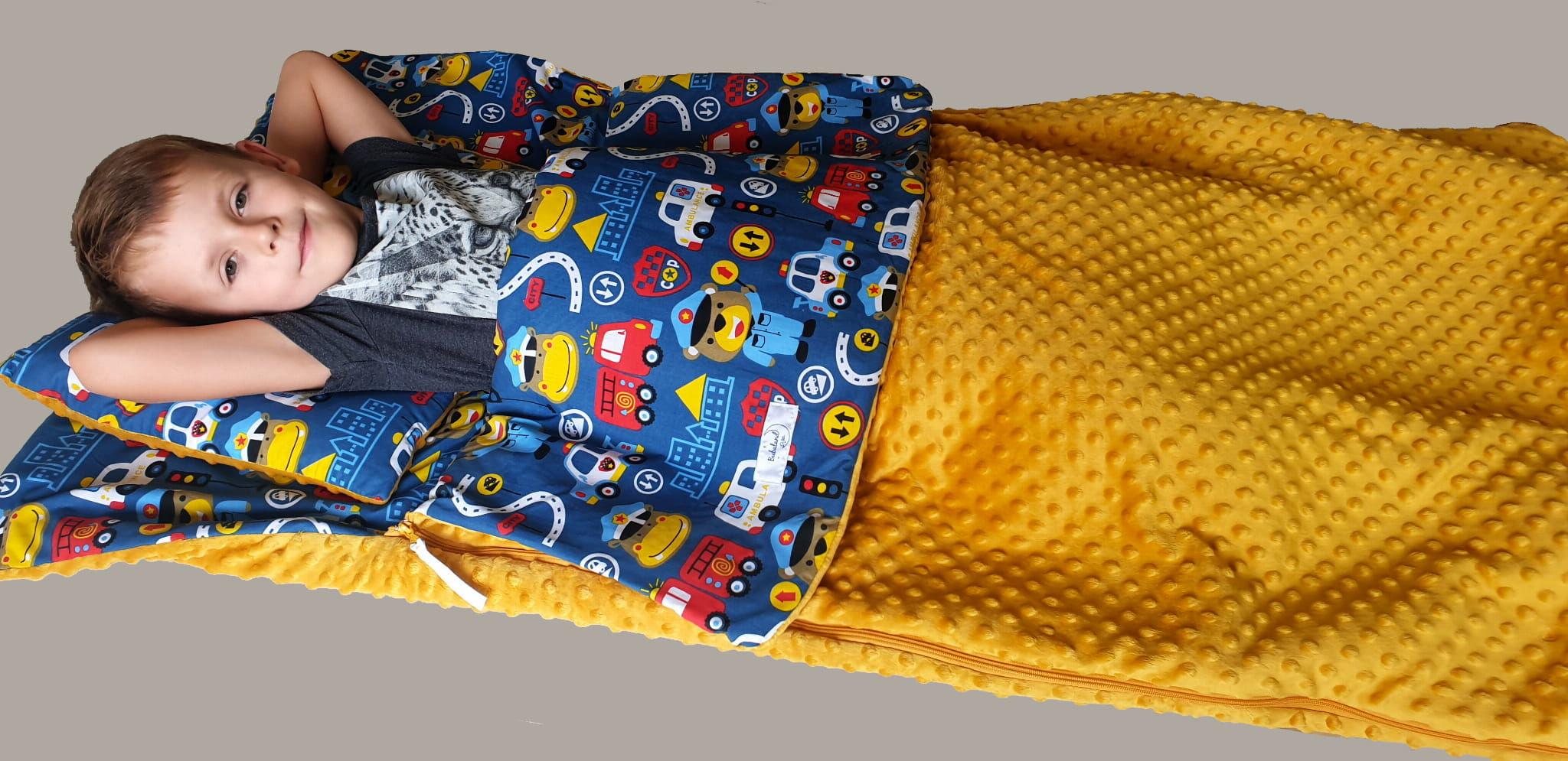 Śpiworek przedszkolaka  pościel do przedszkola Służby Honey  - Minky