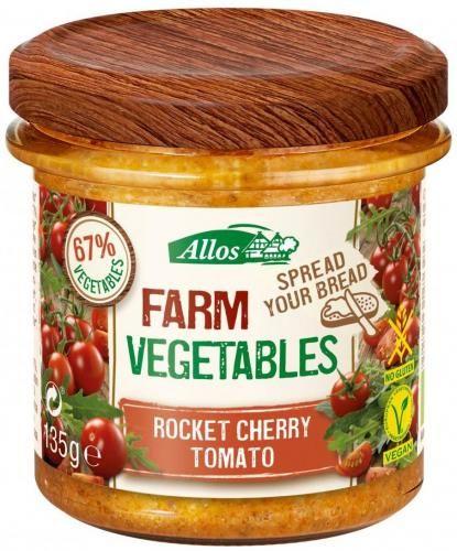 Pasta warzywna z pomidorami cherry i rukolą bezglutenowa BIO 135g Allos