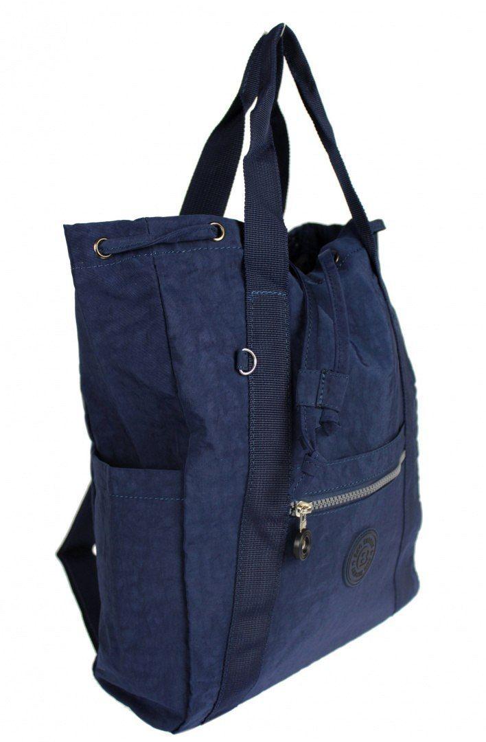 Praktyczny Plecak Torebka 2 w 1 BAG STREET 2247 GRANATOWY