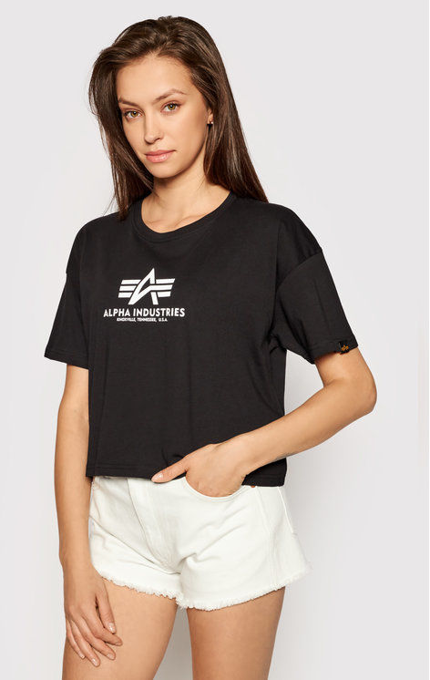 Alpha Industries T-Shirt Basic T Cos 116050 Czarny Oversize