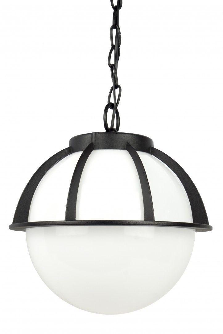 SU-MA Kule z koszykiem 250 K 1018/1/KPO 250 lampa wisząca czarna z białym kloszem 25 cm